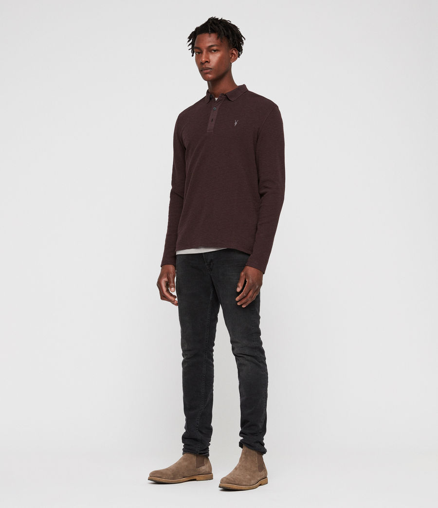 Men's Clash Polo Shirt (oxblood_red) - Image 3