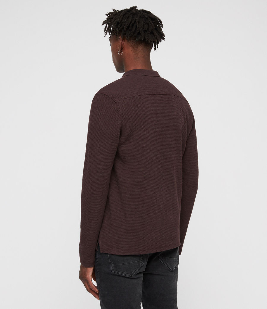 Men's Clash Polo Shirt (oxblood_red) - Image 5