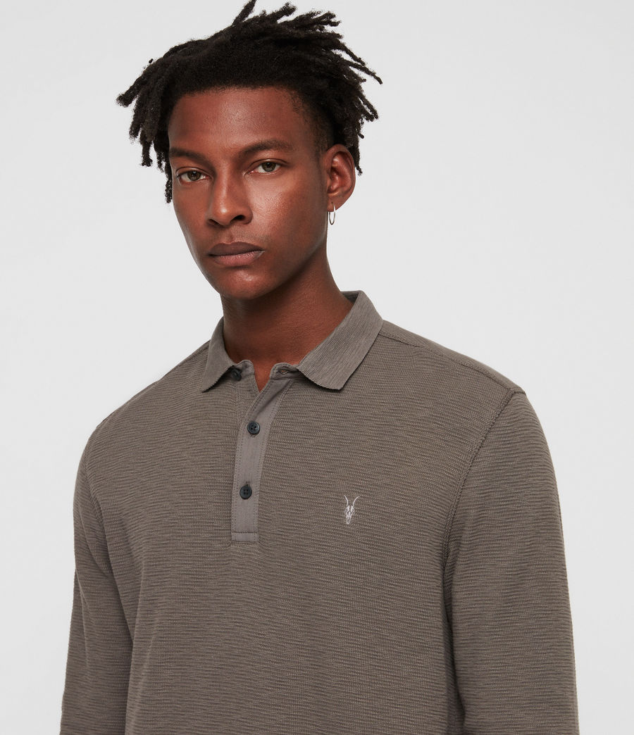 Men's Clash Polo Shirt (core_grey) - Image 2