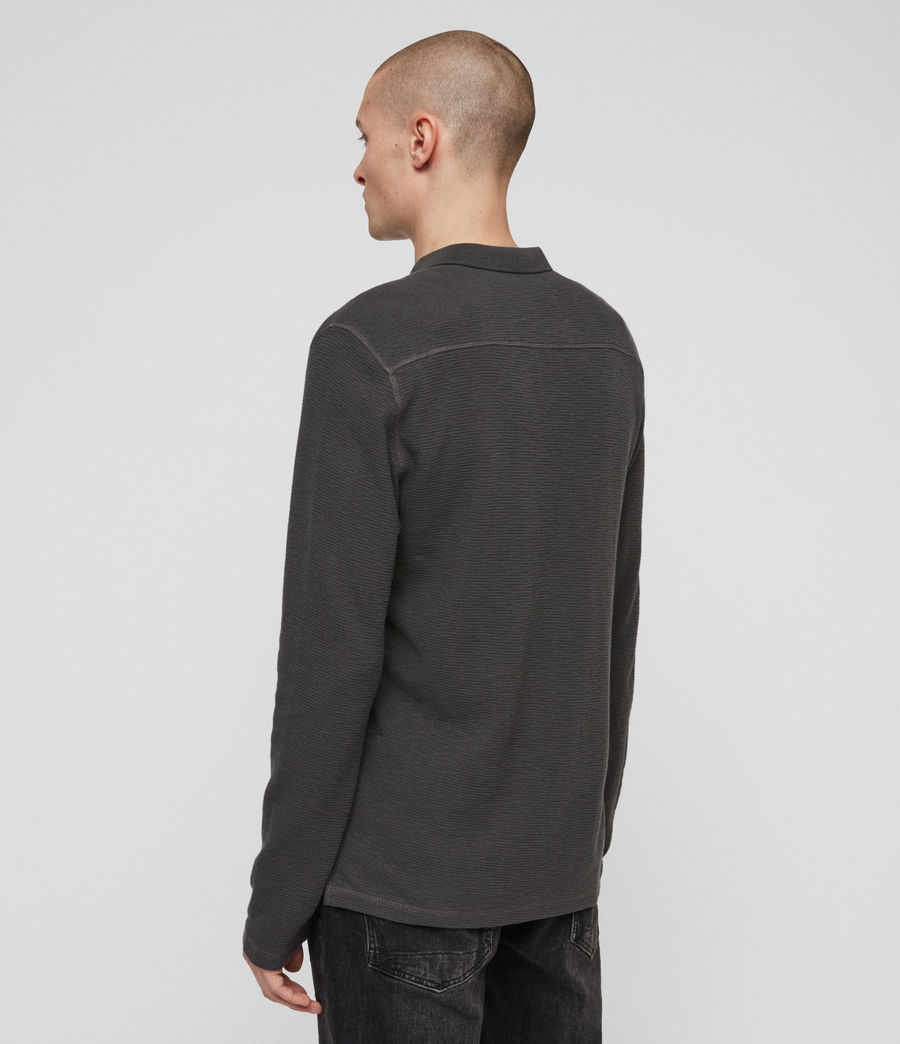 Herren Clash Langärmliges Polohemd (clover_grey) - Image 4