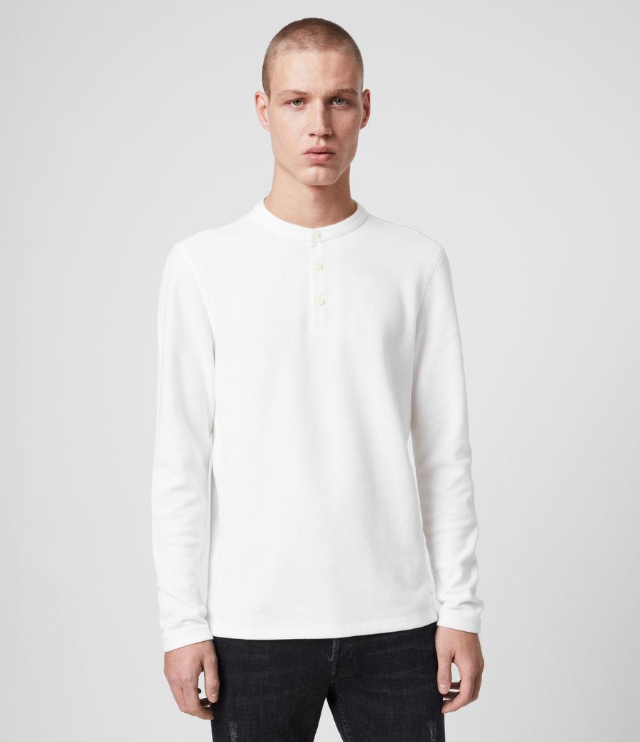 Mens Kiran Henley T-Shirt (white) - Image 1