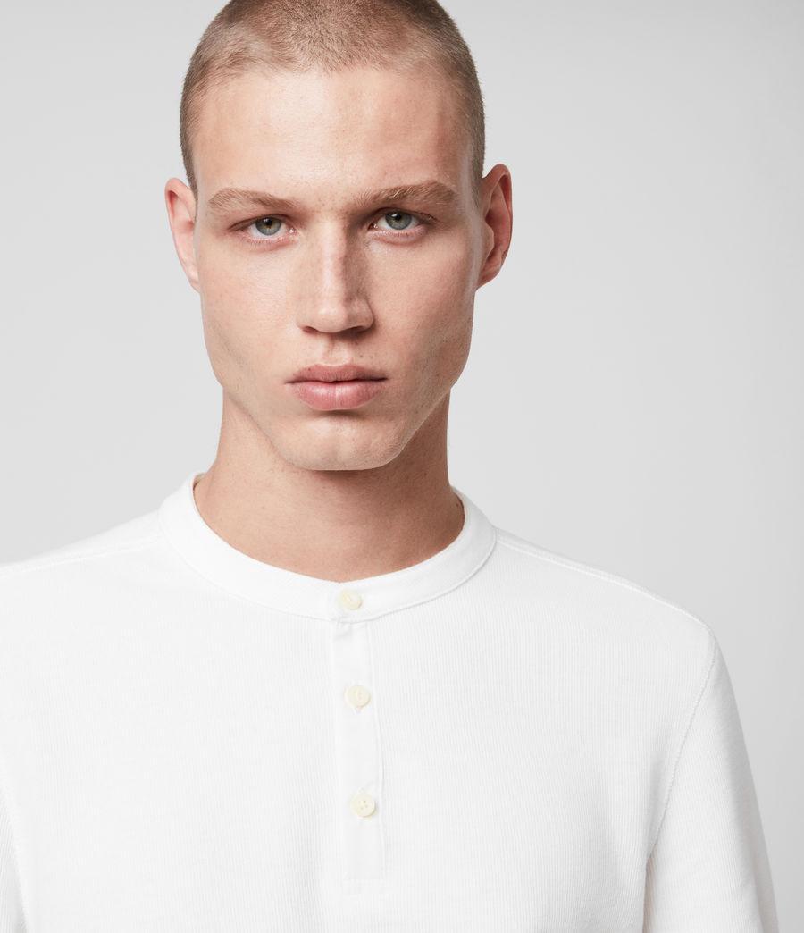 Mens Kiran Henley T-Shirt (white) - Image 2