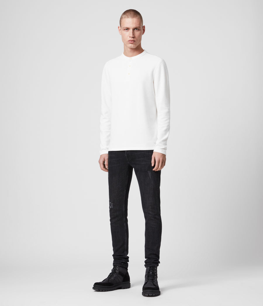 Mens Kiran Henley T-Shirt (white) - Image 3