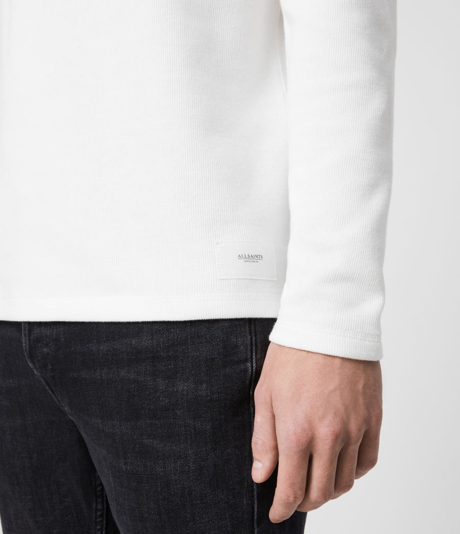 Mens Kiran Henley T-Shirt (white) - Image 4
