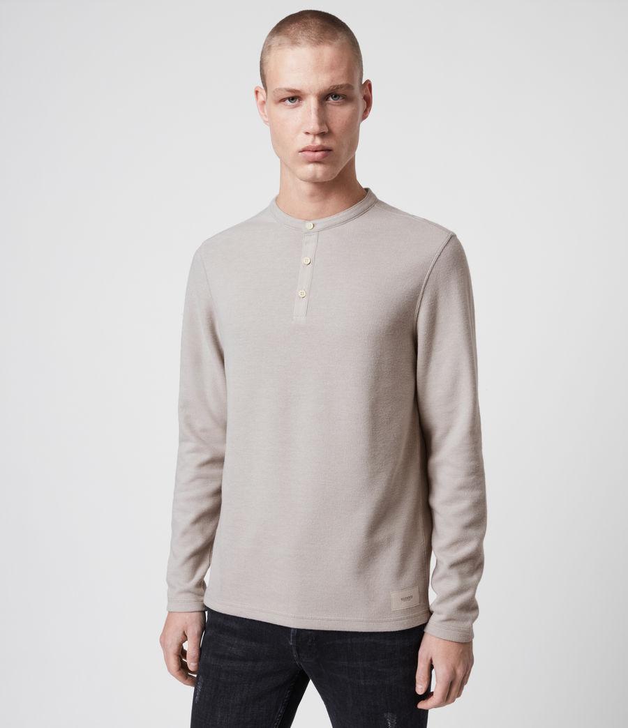 Herren Kiran Henley Long Sleeve (white) - Image 1