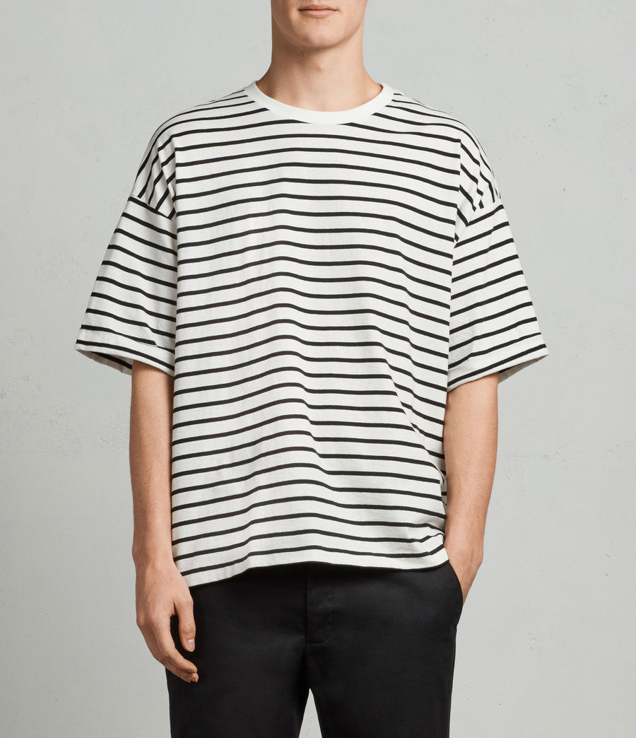 Mens Kleve Stripe Crew T-Shirt (black_chalk) - Image 1