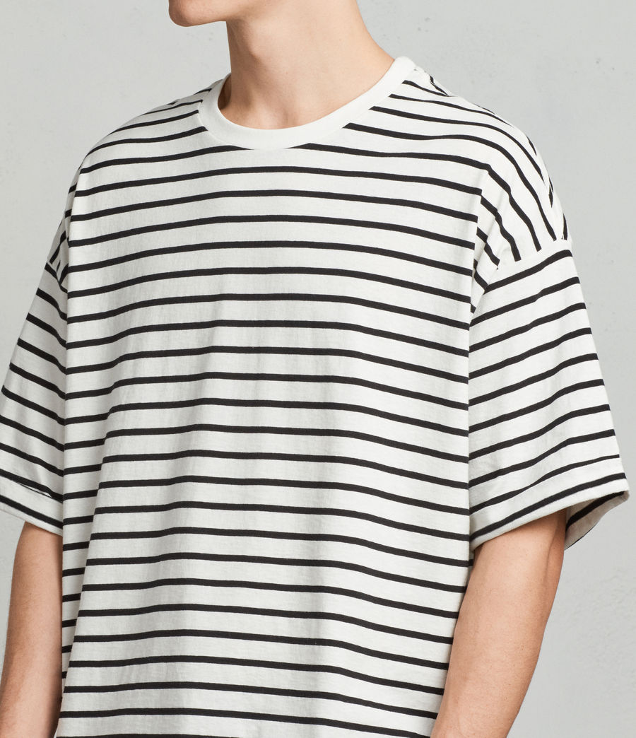 Mens Kleve Stripe Crew T-Shirt (black_chalk) - Image 2