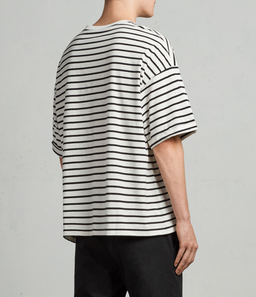 Mens Kleve Stripe Crew T-Shirt (black_chalk) - Image 4