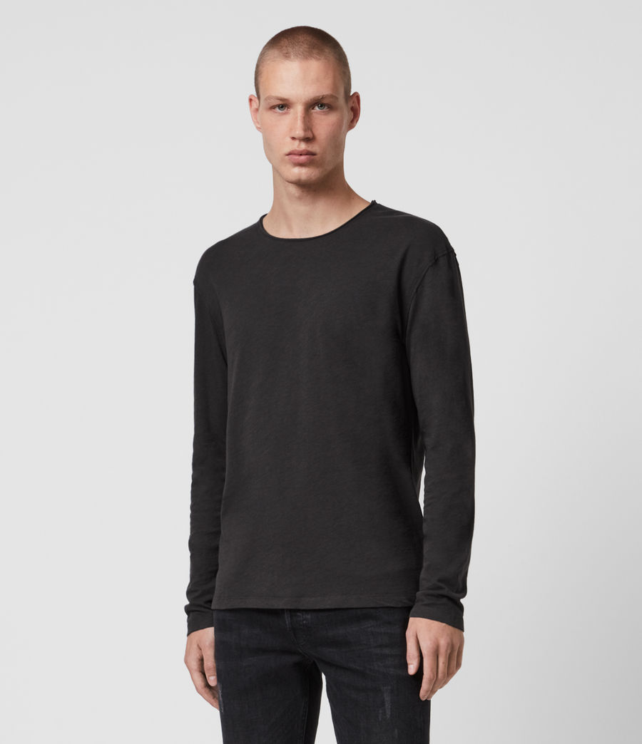 Hommes T-Shirt Manches Longues Figure (washed_black) - Image 1