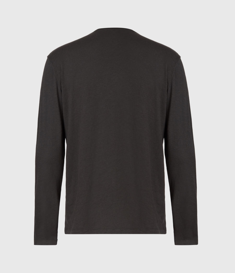 Hommes T-Shirt Manches Longues Figure (washed_black) - Image 3