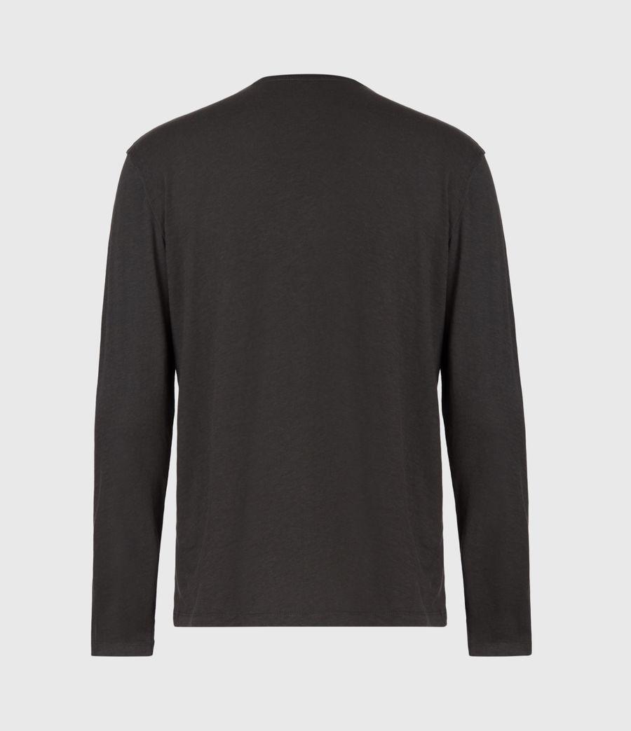Mens Figure Long Sleeve Crew T-Shirt (washed_black) - Image 3