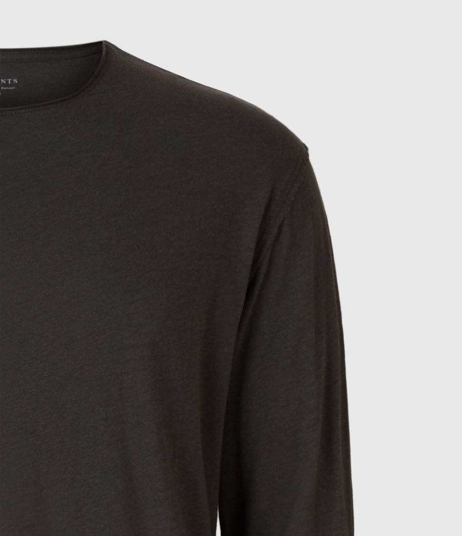 Hommes T-Shirt Manches Longues Figure (washed_black) - Image 4