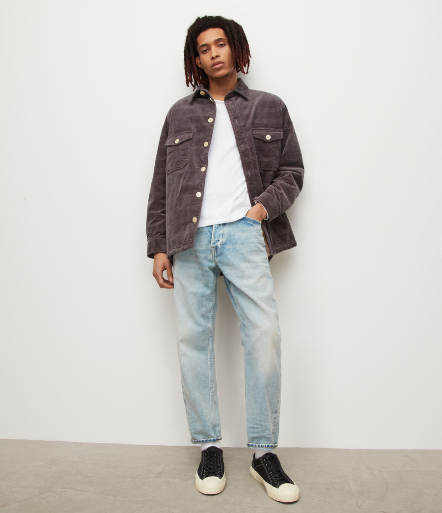 Men's Figure Long Sleeve Crew T-Shirt (optic_white) - Image 4