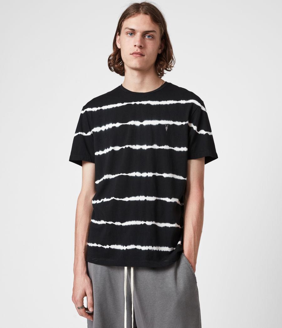 Mens Vagos Crew T-Shirt (wshd_blk_chalk_wht) - Image 1