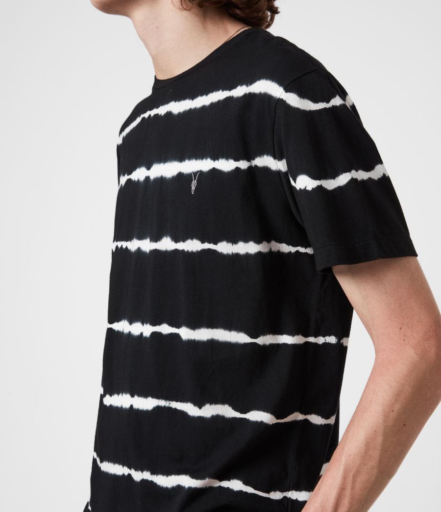 Mens Vagos Crew T-Shirt (wshd_blk_chalk_wht) - Image 4