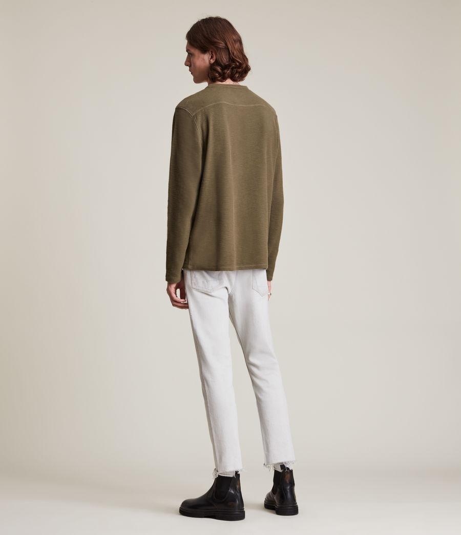 Mens Muse Long Sleeve Henley (parlour_green) - Image 5