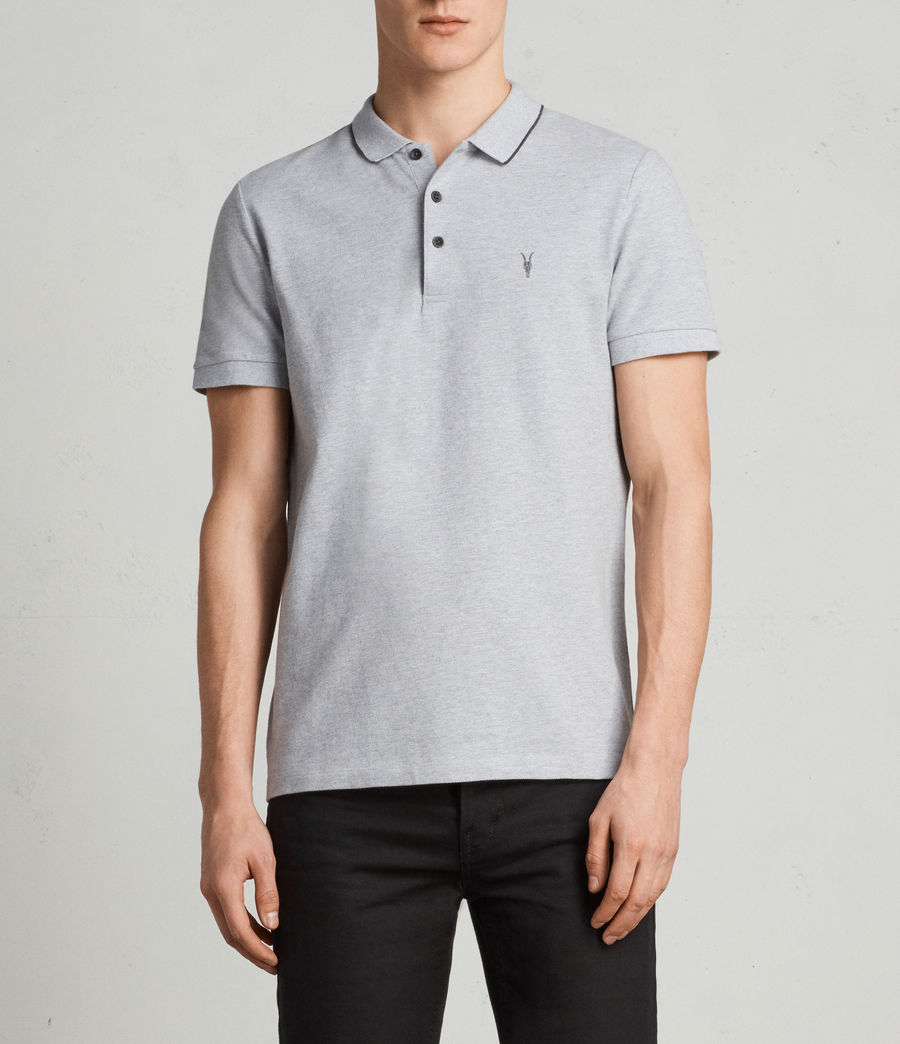 Men's Houston Polo Shirt (greymarl_wshdblack) - Image 1