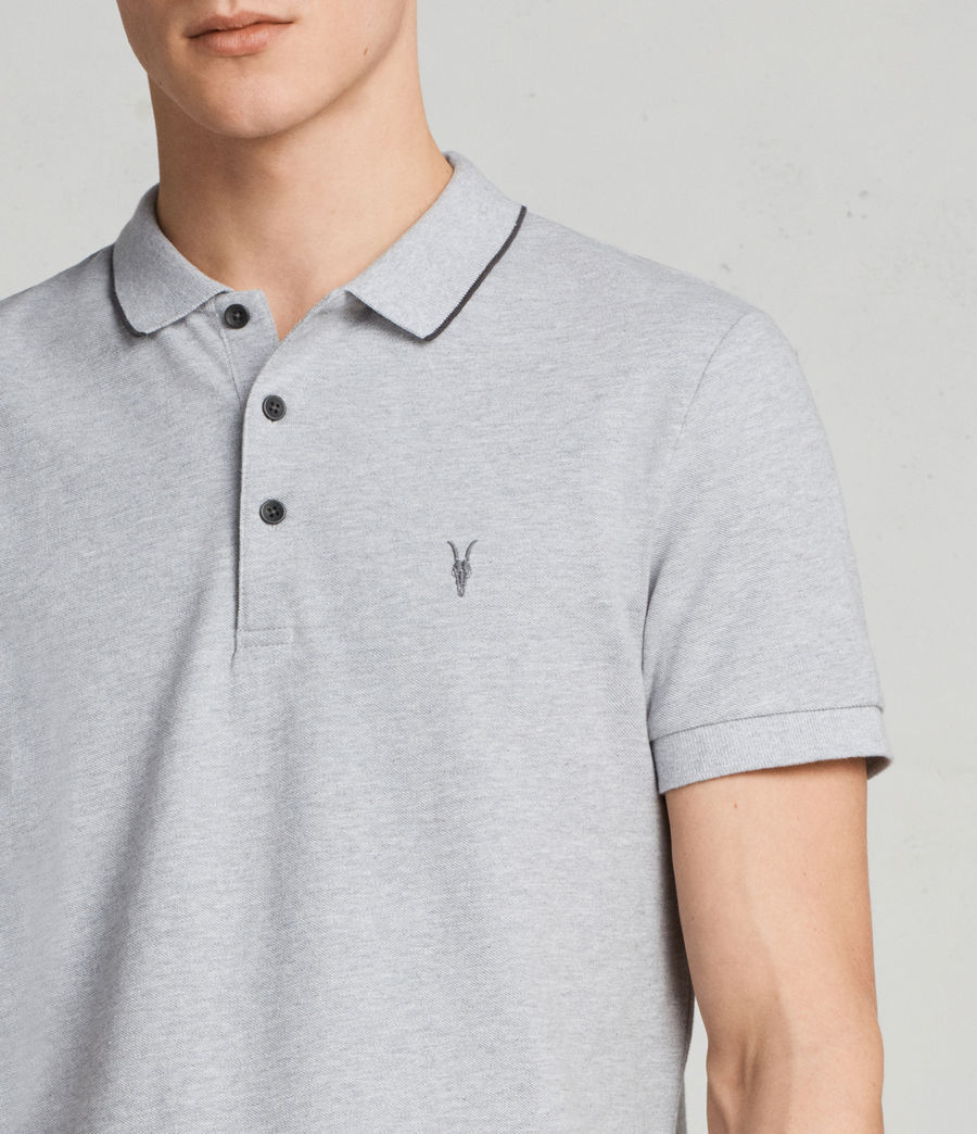 Men's Houston Polo Shirt (greymarl_wshdblack) - Image 2