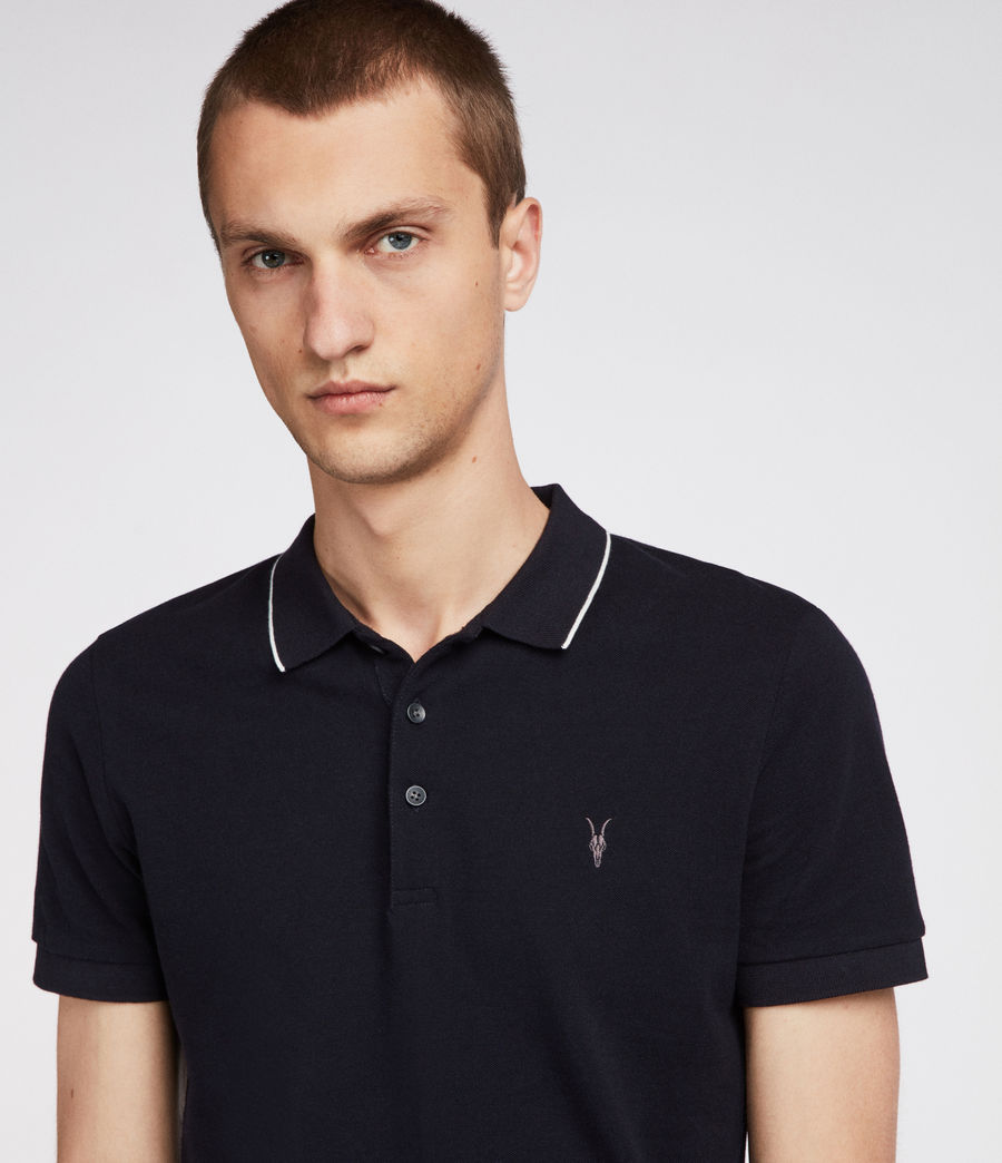 Hommes Polo Houston (ink_navy_chalk_wht) - Image 2
