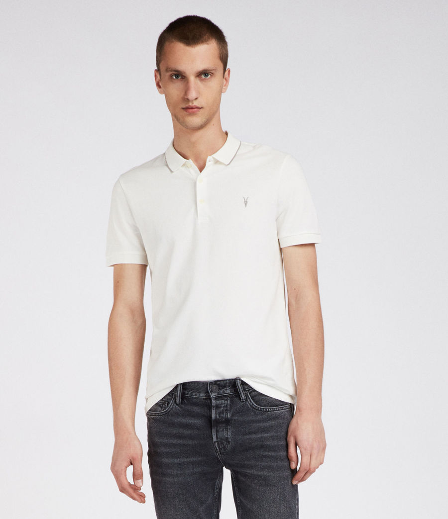 Mens Houston Polo Shirt (chalk_white_putty) - Image 1