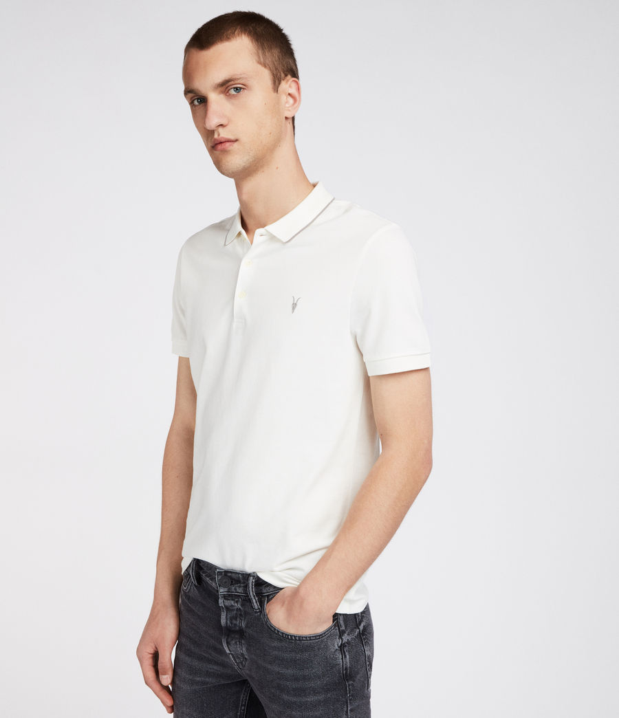 Mens Houston Polo Shirt (chalk_white_putty) - Image 2