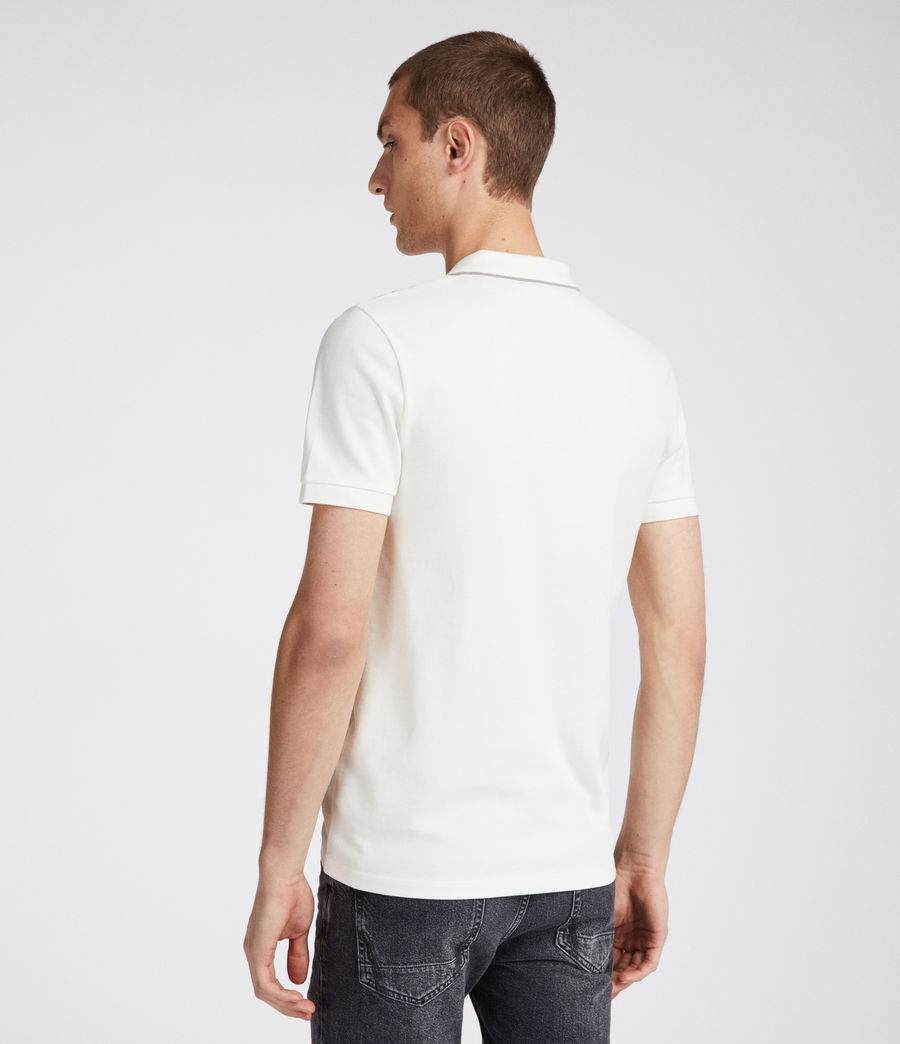 Mens Houston Polo Shirt (chalk_white_putty) - Image 3