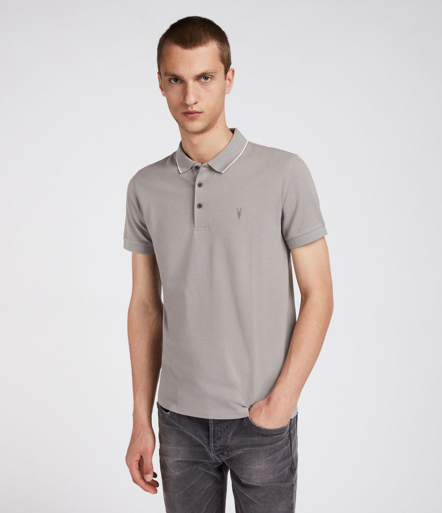 Uomo Polo Houston (putty_brown_chalk) - Image 3