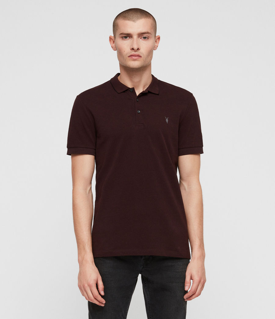 Hombres Houston Polo Shirt (deep_red) - Image 1