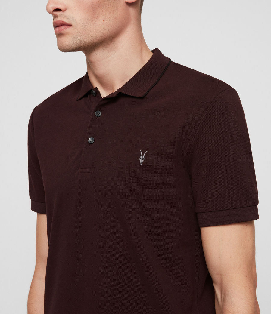 Hombres Houston Polo Shirt (deep_red) - Image 2