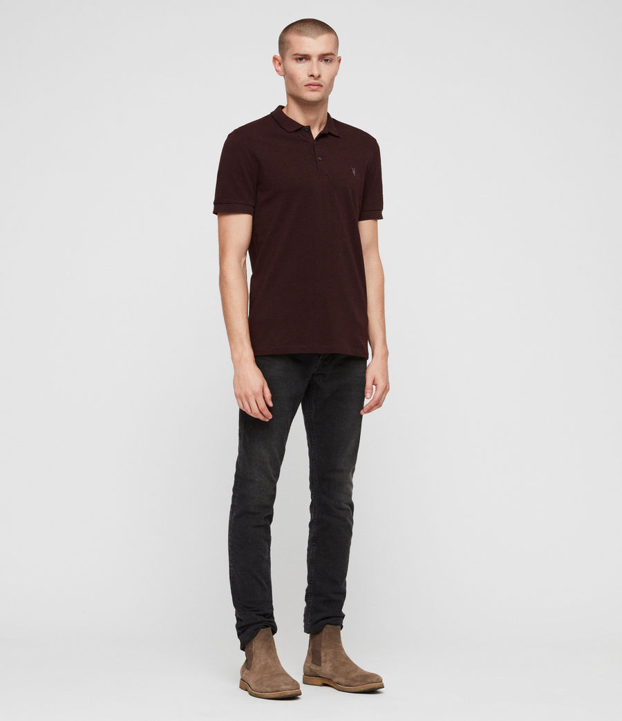 Hombres Houston Polo Shirt (deep_red) - Image 3