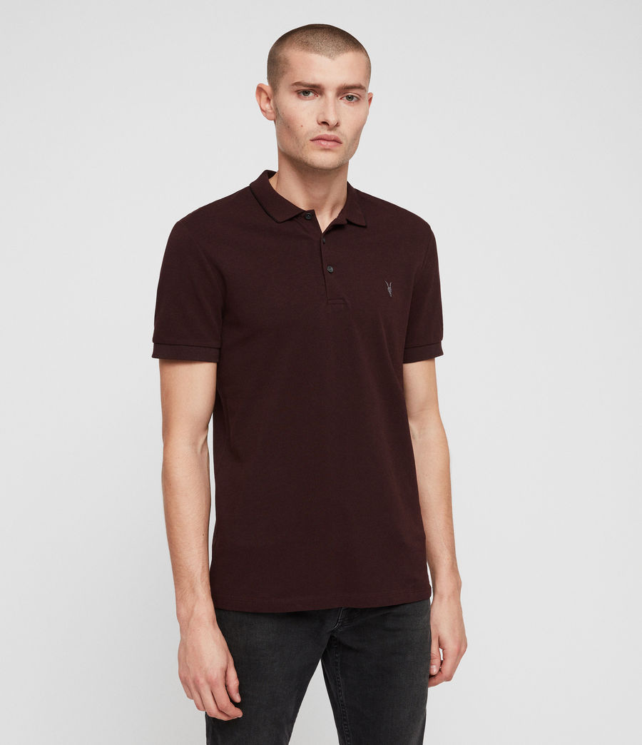 Hombres Houston Polo Shirt (deep_red) - Image 4
