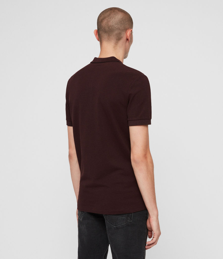 Hombres Houston Polo Shirt (deep_red) - Image 5