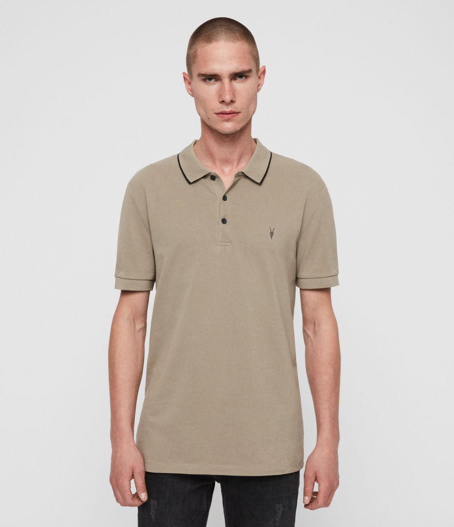 Mens Houston Short Sleeve Polo Shirt (sutro_grey) - Image 1