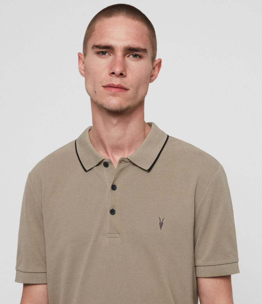 Men's Houston Short Sleeve Polo Shirt (sutro_grey) - Image 2