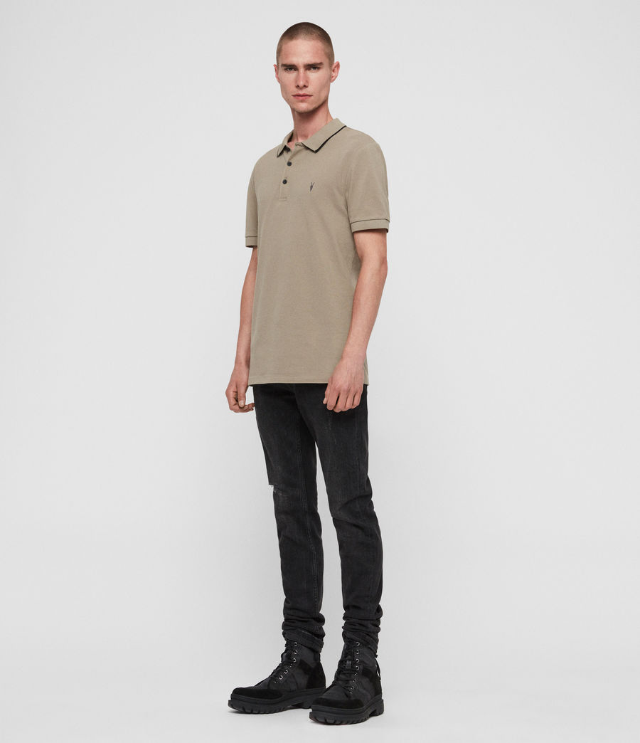 Men's Houston Polo Shirt (sutro_grey) - Image 3