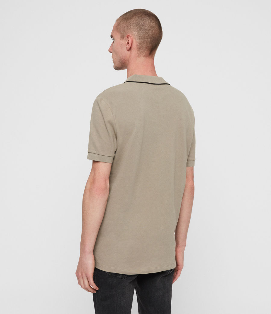 Men's Houston Short Sleeve Polo Shirt (sutro_grey) - Image 4