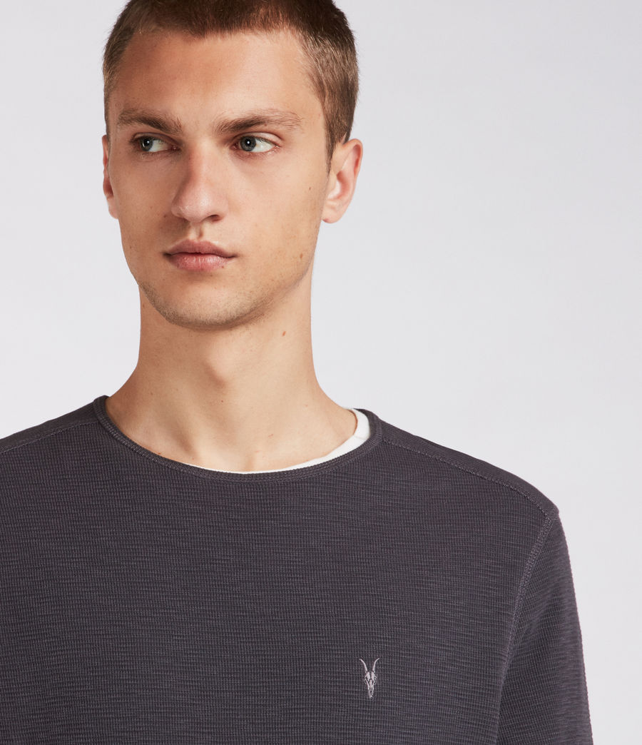 Men's Clash Crew Top (washed_black) - Image 2