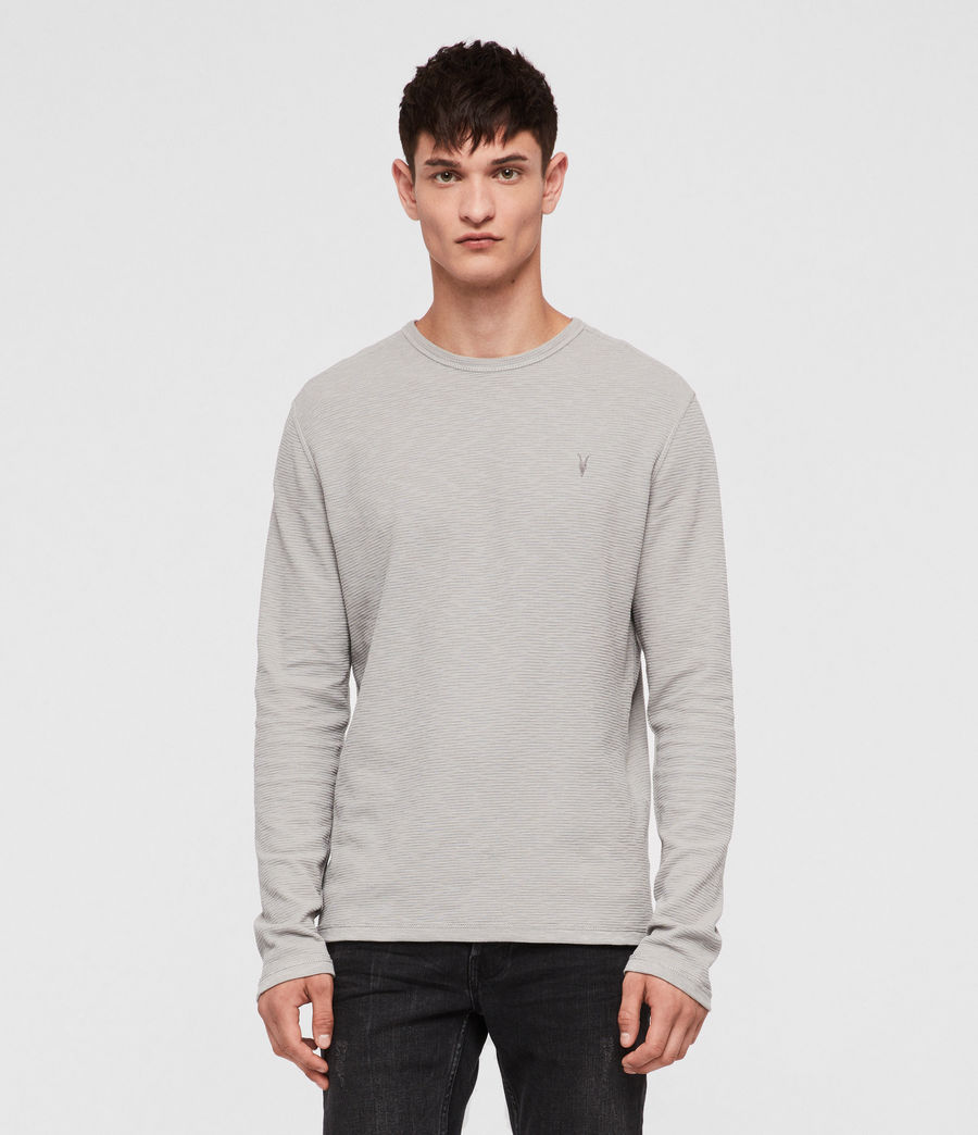 Hommes T-Shirt Manches Longues Clash (tin_grey) - Image 1