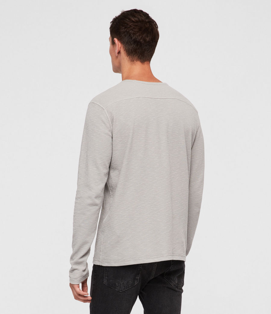 Hommes T-Shirt Manches Longues Clash (tin_grey) - Image 4