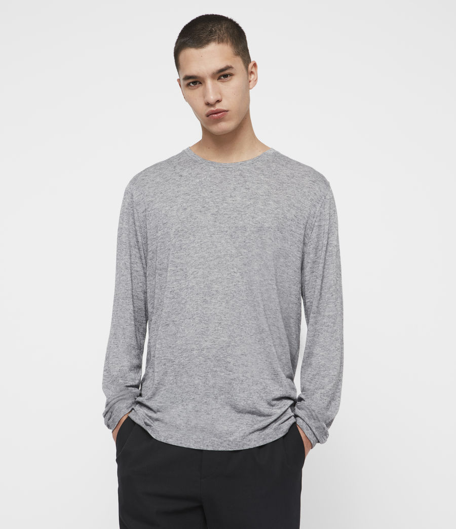 Men's Quinn Crew T-Shirt (grey_marl) - Image 1