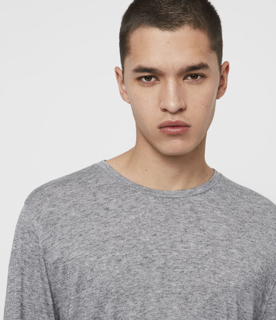 Men's Quinn Crew T-Shirt (grey_marl) - Image 2