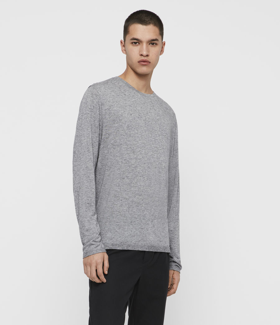 Men's Quinn Crew T-Shirt (grey_marl) - Image 4