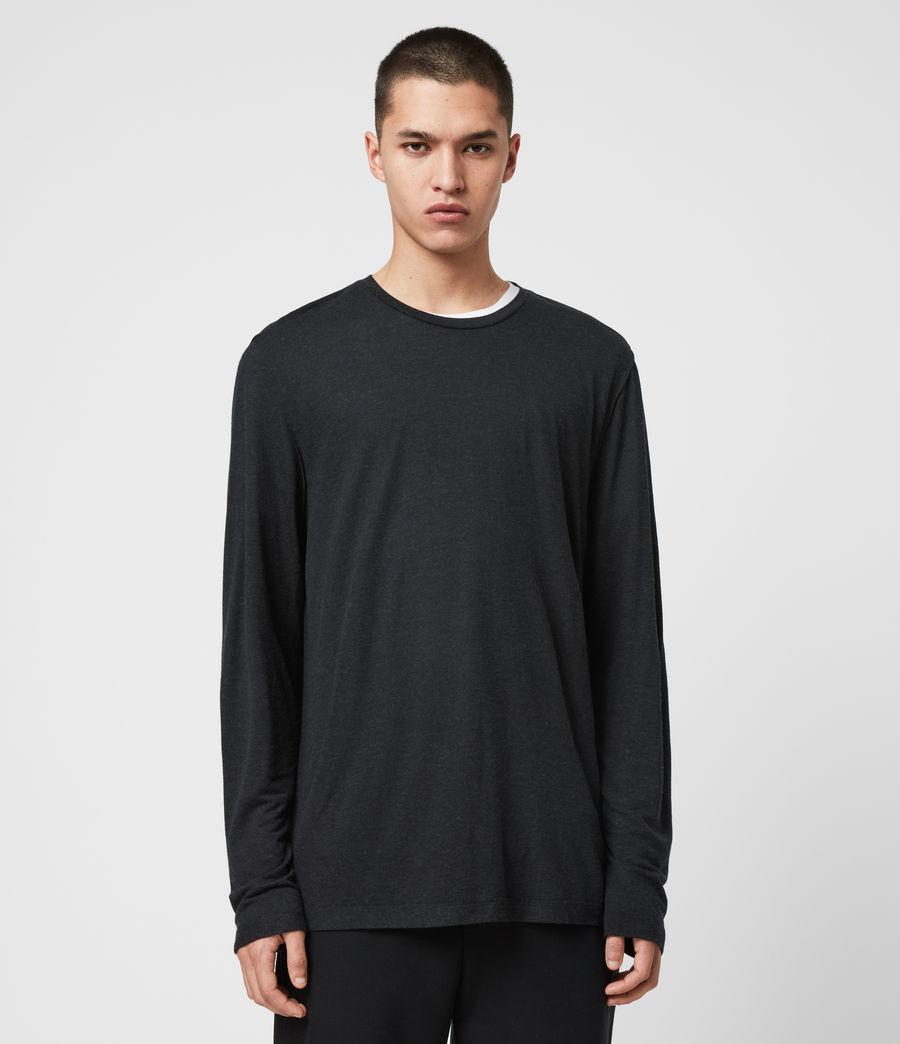 Mens Quinn Crew T-Shirt (grey_marl) - Image 1