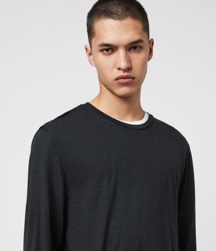 Hommes T-Shirt à Manches Longues Quinn (charcoal_marl) - Image 2