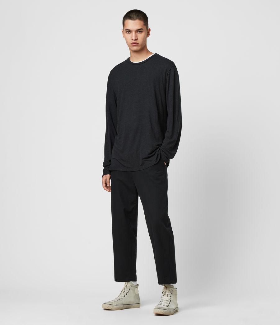 Hommes T-Shirt à Manches Longues Quinn (charcoal_marl) - Image 3