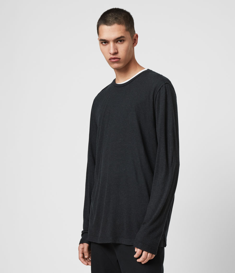 Mens Quinn Crew T-Shirt (grey_marl) - Image 4