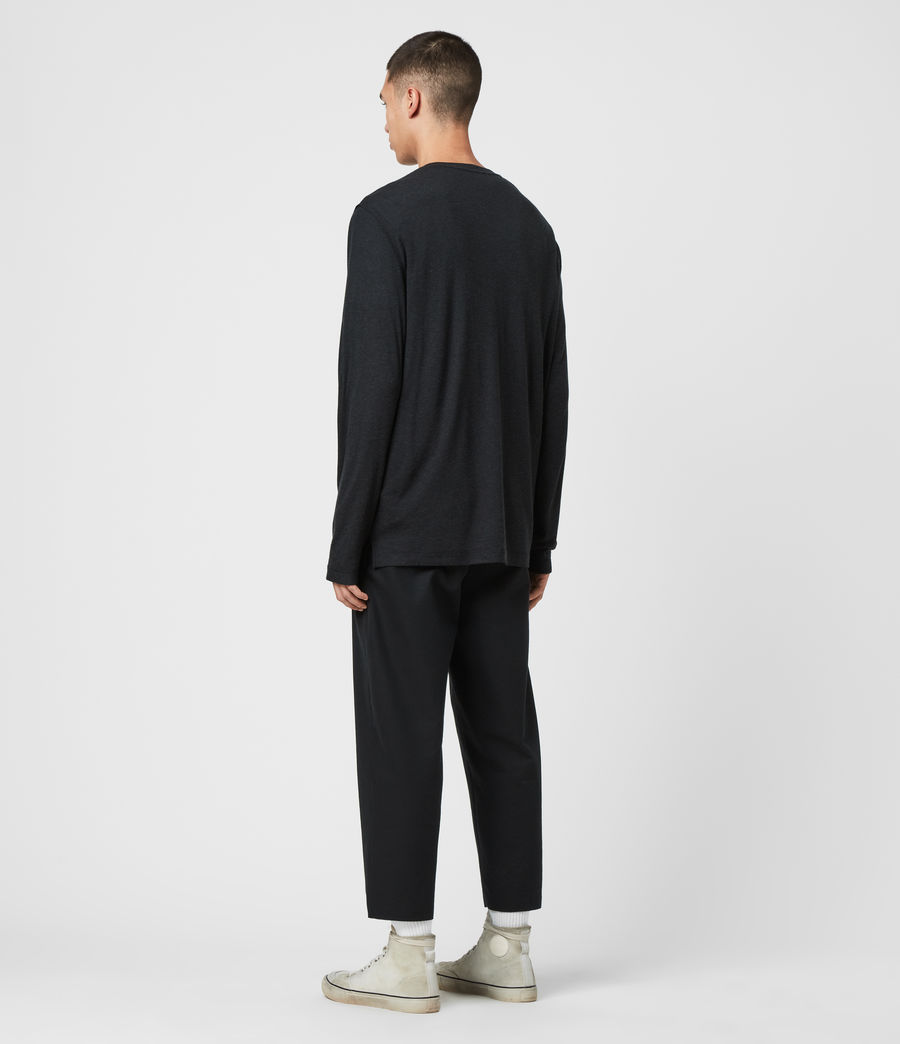 Mens Quinn Crew T-Shirt (grey_marl) - Image 5