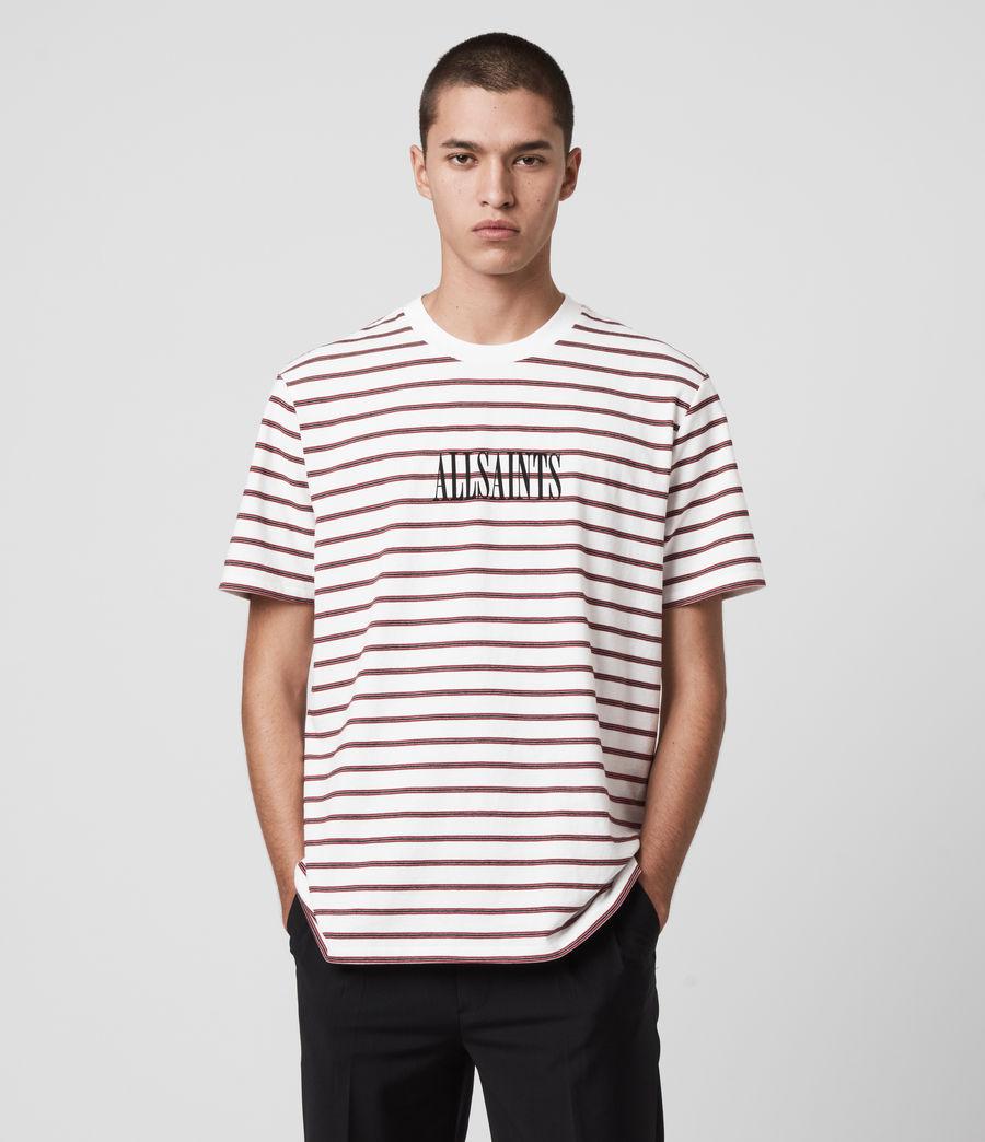 Hombres Harvest Crew T-Shirt (chalk_red_black) - Image 1