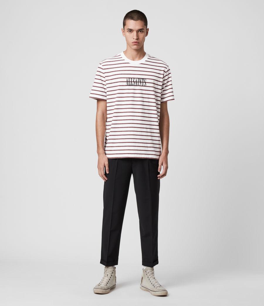 Hombres Harvest Crew T-Shirt (chalk_red_black) - Image 3