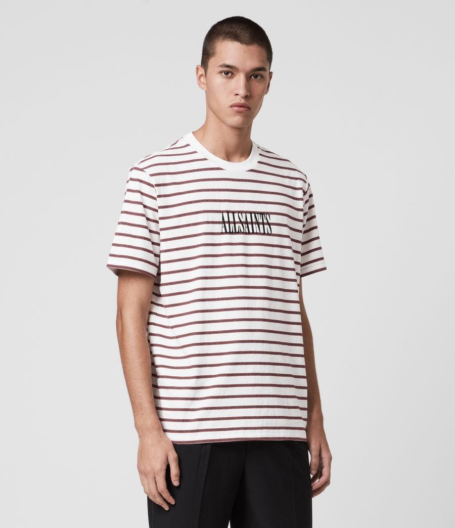 Hombres Harvest Crew T-Shirt (chalk_red_black) - Image 4